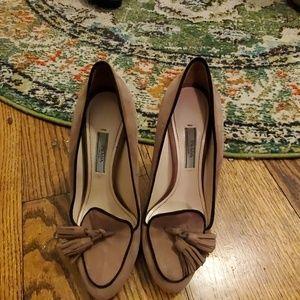 Prada tassel loafer heels